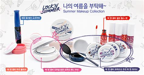 Promo Alat Kecantikan Blue Bb Cushion Makeup Color shell senseless etude house summer 2014 lock n summer collection