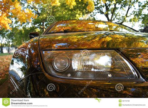 car showing fall colors royalty free stock photos image 30716768