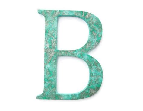 Decorative Letter B by Decorative Letter B Textured Seafoam Green Wall Letter