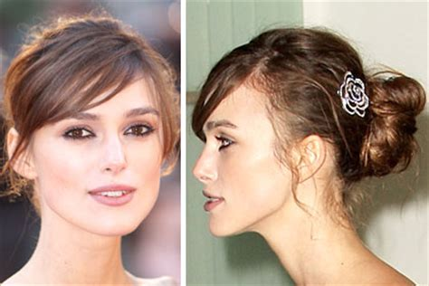 female celebrities with thin hair keira knightley sexy celebrity hairstyles for fine hair