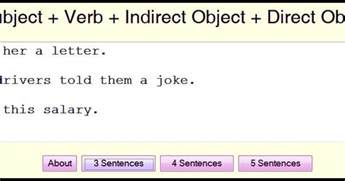 subject verb indirect object direct object