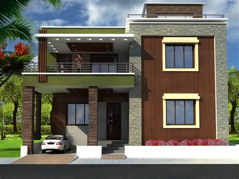 duplex house front elevation designs with plans trends