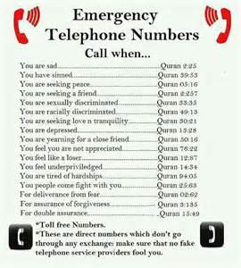 emergency telephone numbers living the muslim