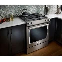 kitchenaid ksdg950ess dual fuel 30 quot downdraft front