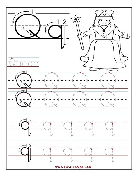worksheets for preschoolers tracing letters printable letter q tracing worksheets for preschool word