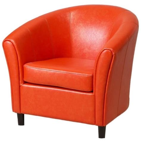 Ikea Patio Chair Trent Home Jean Leather Barrel Club Chair In Orange 708312cy