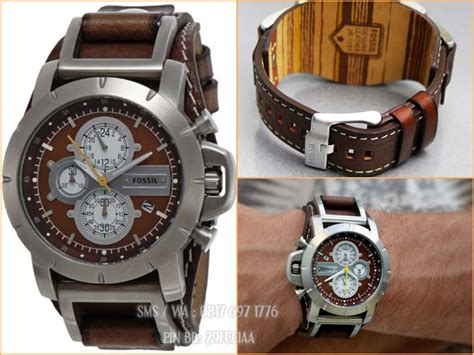 Jam Tangan Pria Fossil Jake Jr 1157 Chronograph Leather promo jam tangan pria fossil jr1157 chronograph original