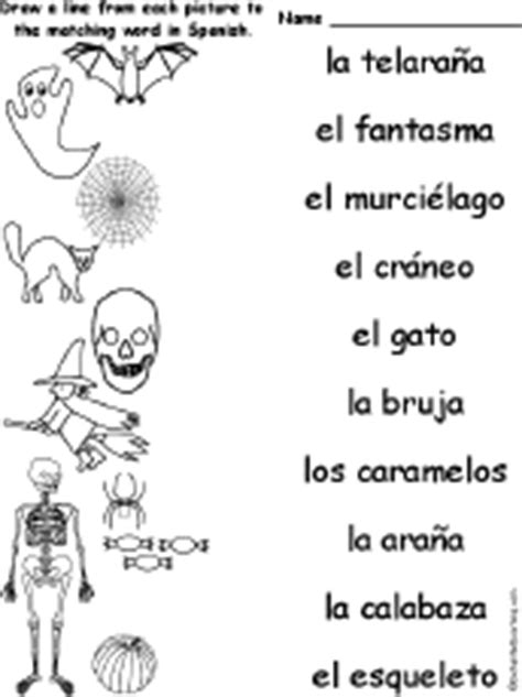 halloween coloring pages in spanish spanish language activities at enchantedlearning com