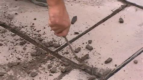 How To Do Pointing On Patio by Re Jointing A Patio