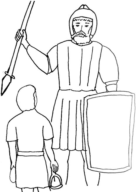 Coloring Page Goliath by Free Coloring Pages Of David And Goliath