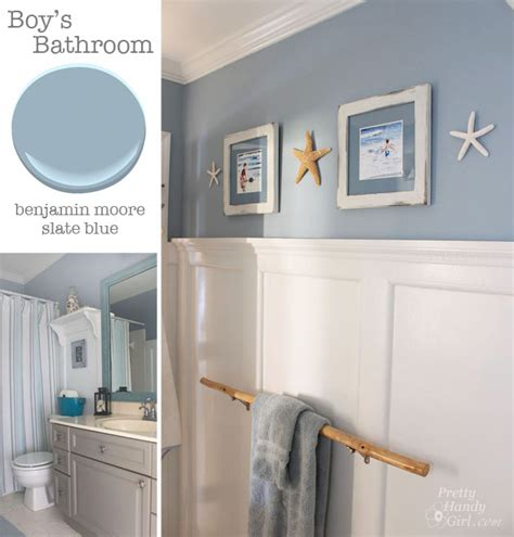 bathroom benjamin slate blue pretty handy coastal decor benjamin