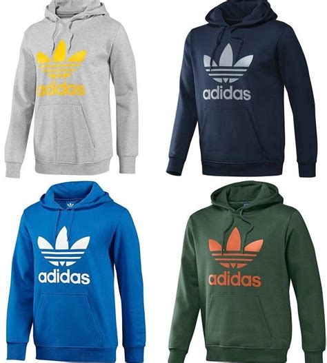 adidas hoodie new adidas trefoil hoodie hooded sweatshirt sizes small medium large xl ebay