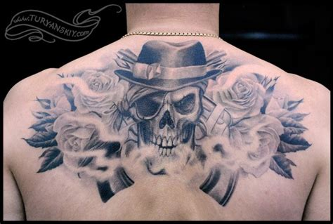 skull rose gun tattoo skull roses and guns walking dead