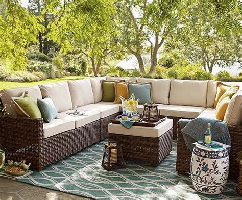 pier one patio furniture echo sectional seating outdoor pier one 30 50 quot d x