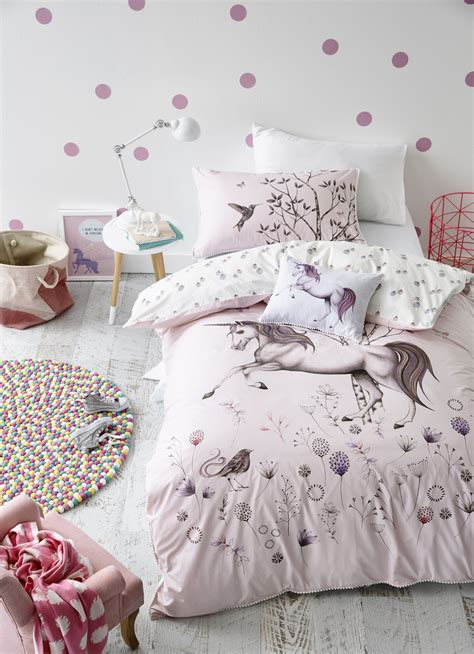 Unicorn Bedroom Decorating Ideas by Adairs Unicorn Dreaming Quilt Cover Set