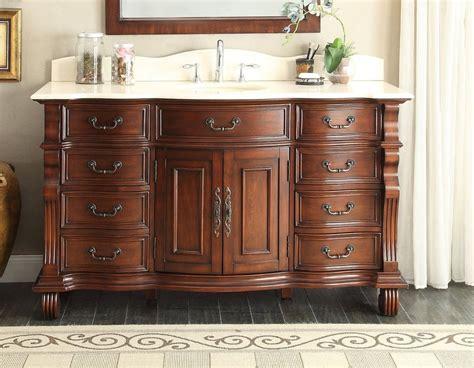 60quot old world cream marble hopkinton bathroom sink vanity