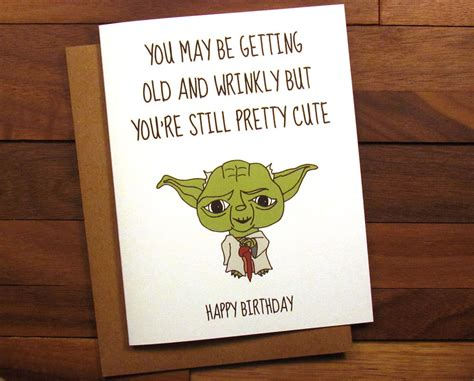 Unique Gifts For Mom by Funny Birthday Card Star Wars Birthday Card With Recipe