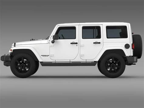 Jeep Unlimited Altitude Jeep Wrangler Unlimited Altitude 2014 3d Model Max Obj