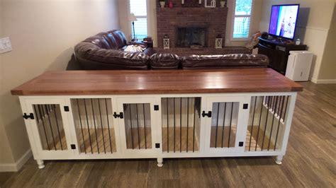 triple dog kennel medium sized spaces solid hardwood