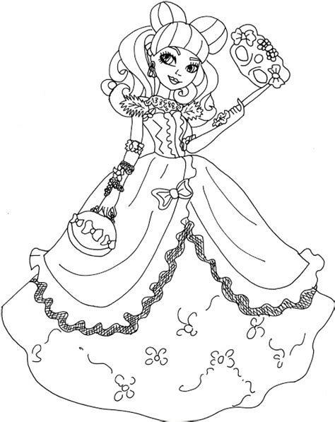 ever after high coloring pages lizzie free printable ever after high coloring pages blondie