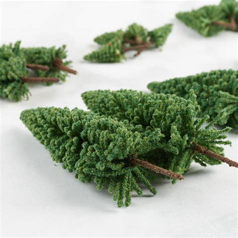 miniature flocked artificial pine trees christmas