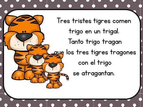 imagenes de tres tristes tigres trabalenguas infantiles f 225 ciles para ni 241 os 12