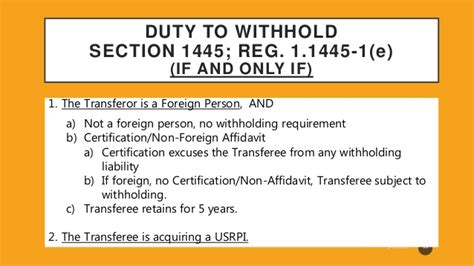 section 1445 affidavit firpta foreign investment in real property tax act
