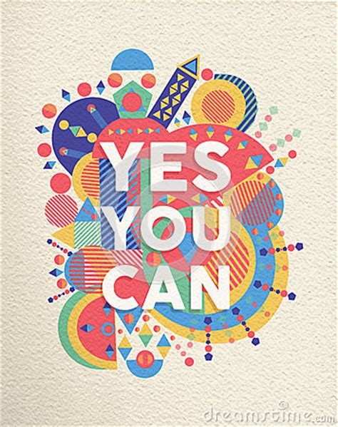poster design vector file yes you can quote poster design stock vector image 47550538