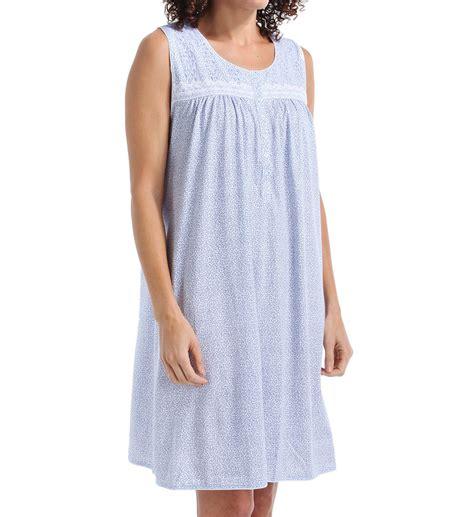 Flowery Sleepwear 8314954 flowery sleeveless nightgown ebay