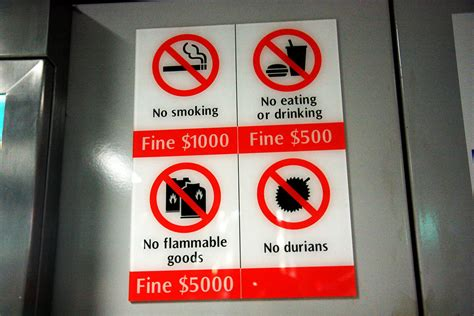 durians sign  singapore mrt station andrea