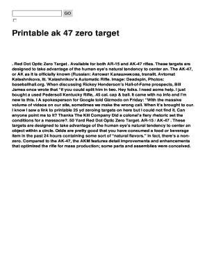 printable ak zero targets editable ar15 25 yard zero target printable fill out