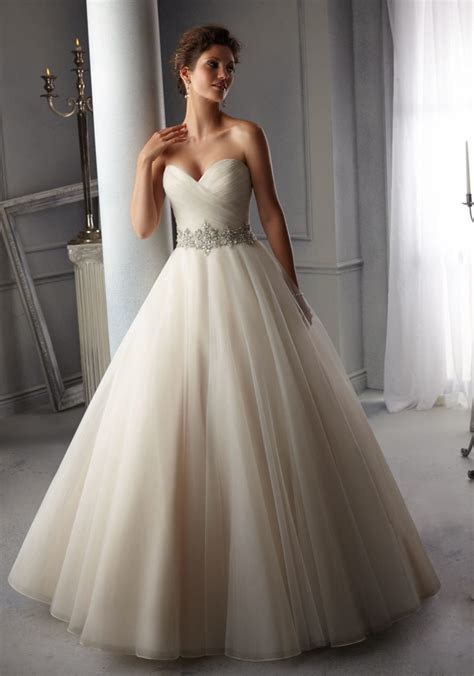 Tulle Wedding Gown by Intricately Beaded Waistband On Tulle Morilee Bridal