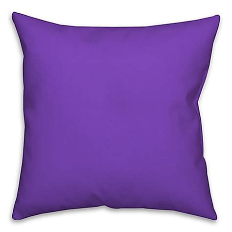 purple bed pillows buy solid color square throw pillow in purple from bed bath beyond