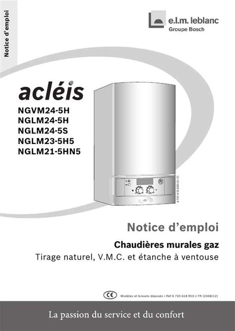 Acleis Nglm 24 5h 4534 by Mode D Emploi Elm Leblanc Acleis Nglm24 5h Chaudi 232 Re