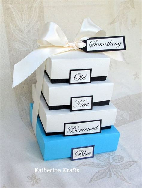 Something Blue Wedding Gift Boxes   Something Old