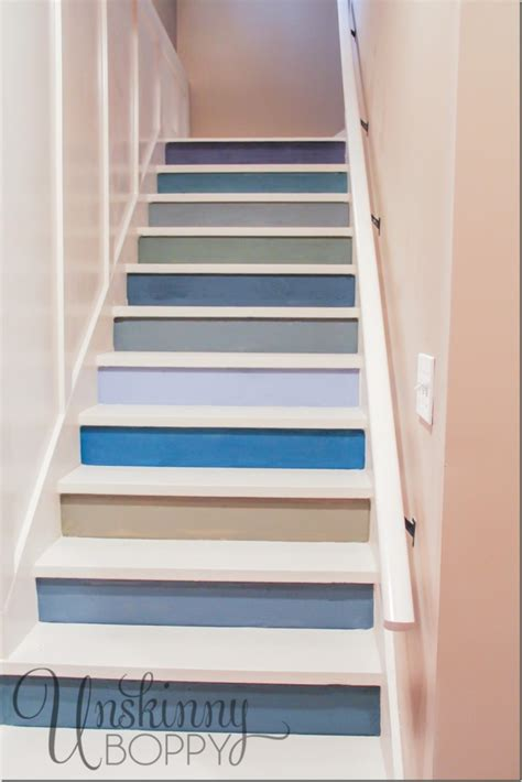 paint for basement stairs painted basement steps with board and batten unskinny boppy