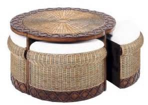 wicker ottoman coffee table unique coffee tables