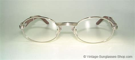 Sb 0376 Yellow glasses cartier giverny palisander rosewood vintage sunglasses