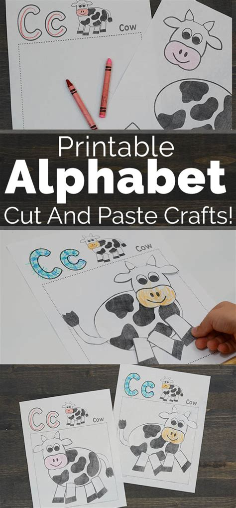 Go Go Cutting And Pasting printable alphabet cut and paste crafts to be a kid again
