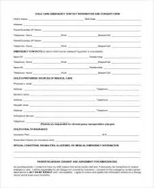 daycare information sheet template sle daycare form 10 exles in pdf word