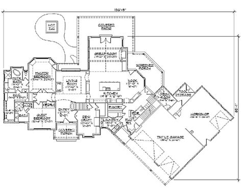 ranch home plan with safe room 73296hs architectural safe room floor plans ranch home plan with safe room