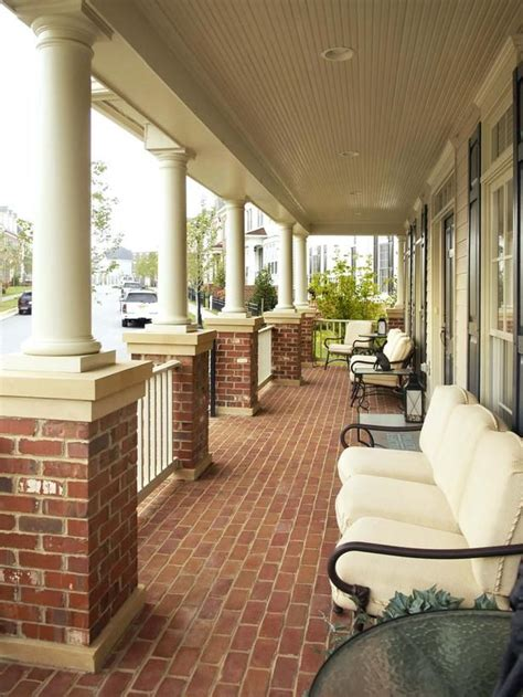 inviting front porch hwbdo75600 traditional from builderhouseplans com 25 best ideas about brick porch on pinterest front