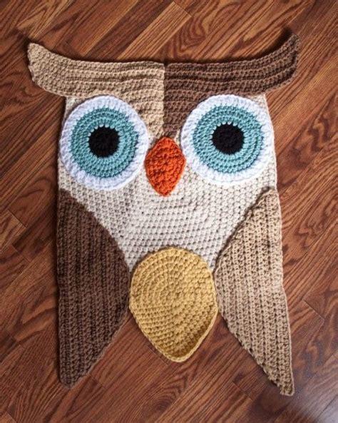crochet owl rug pattern crochet owl rug