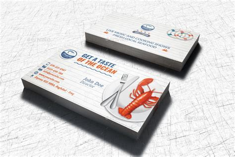Restaurant Business Card Template by Seafood Restaurant Business Card Template By Owpictures