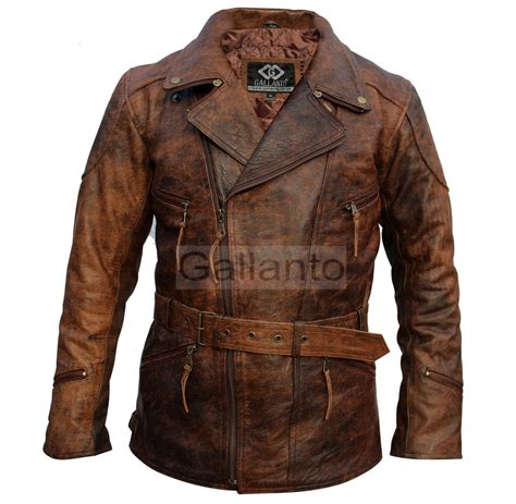 brown motorcycle jacket eddie mens 3 4 motorcycle biker brown distressed vintage