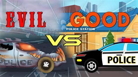 for kids police vs police cars battle good vs evil kids video