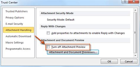 Office 365 Outlook Preview Pane Outlook Disable And Enable Previewing Attachments In