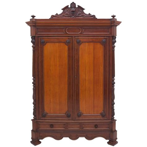 Antique Armoire by Large Antique Napoleon Iii Armoire In Mahogany