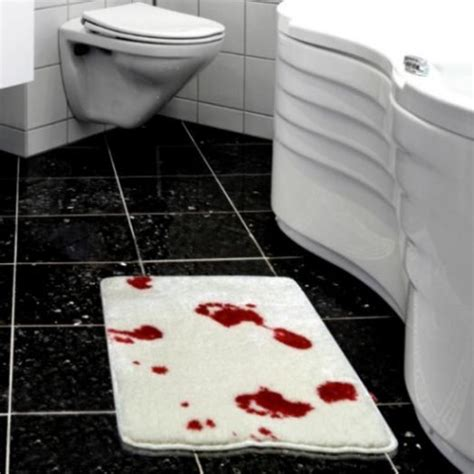 bloody shower curtain and bath mat make a bloody bath mat towel or shower curtain