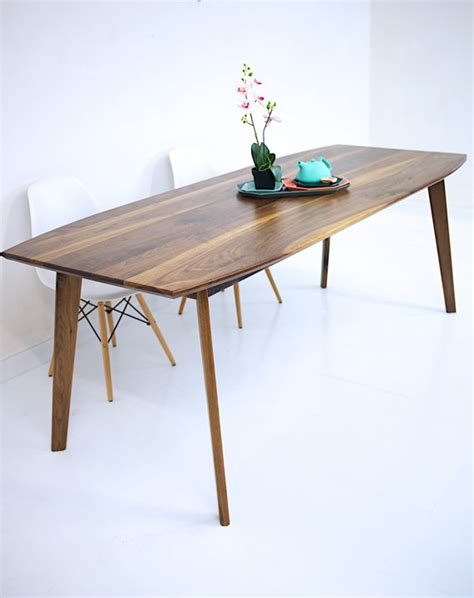 modern mid century solid quot wood dining table quot kitchen dining table walnut dining table modern walnut table wood